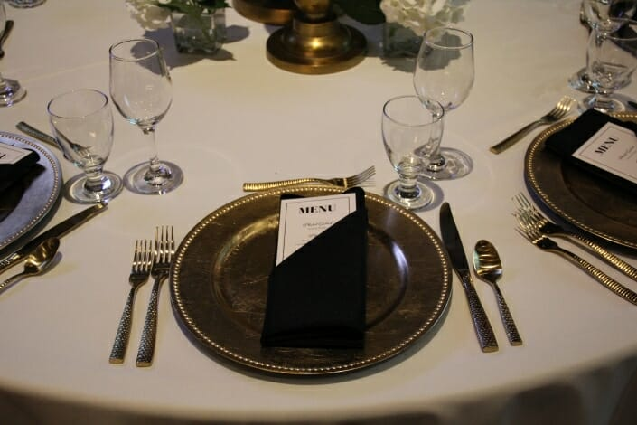 Gold Charger and Flatware