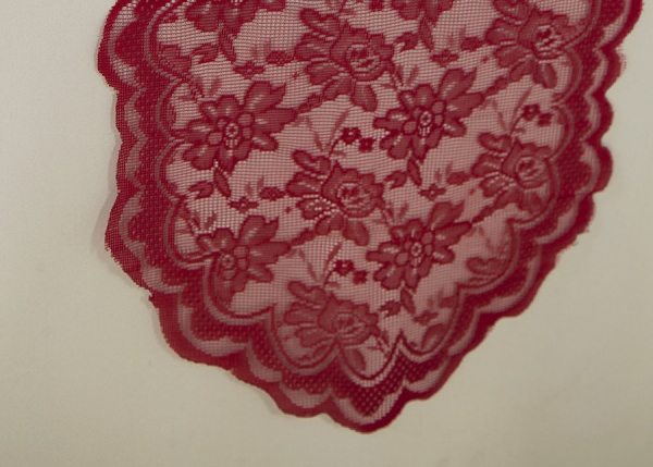 Apple Red Lace Table Runner