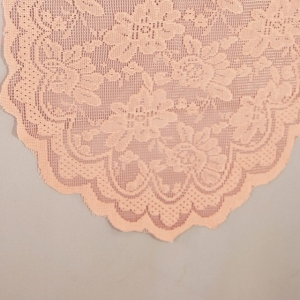 Peach Lace Table Runner