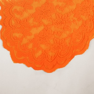 orange lace table runner