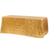gold sequin rectangular linen