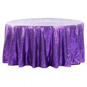 Purple Sequin Round