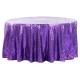 Purple Sequin Round