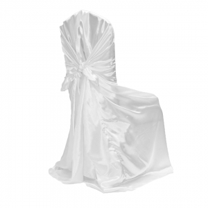 White universal Chair Cover